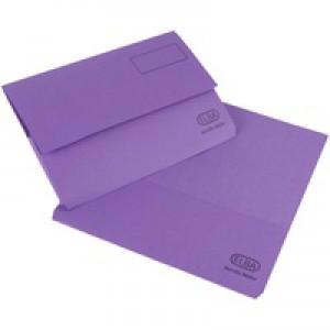 Elba Bright Manilla Document Wallet 285gsm Capacity 32mm Foolscap Purple Ref 100090139 [Pack 25]