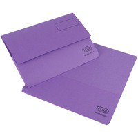 Elba Bright Manilla Document Wallet 285gsm Capacity 32mm Foolscap Purple Ref 100090139 [Pack 25]
