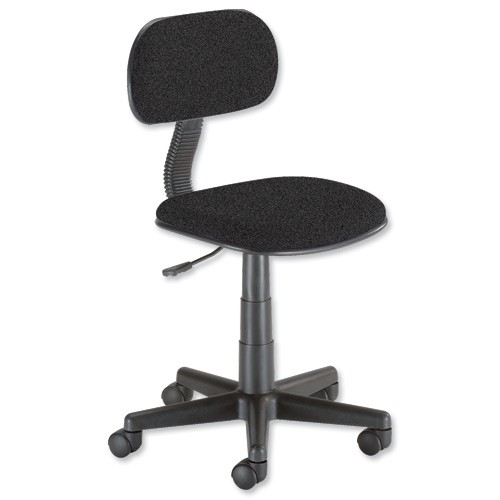 Trexus Intro Typist Chair Back H220mm Seat W410xD390xH405-520mm Charcoal Ref 10001-03
