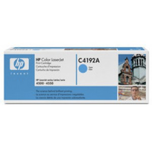 Hewlett Packard Laser Toner Cartridge Cyan C4192A
