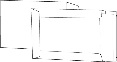 White Box Envelope Boardback Peel and Seal 115gsm Manilla C4 [Pack 125]