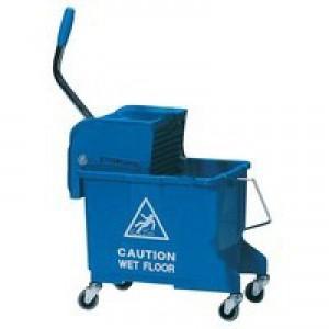 Blue Mobile Mop Bucket Wringer 20Ltr