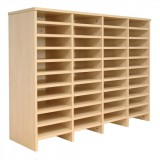 Tercel Post Room Sorter Hutch Add-on Double Height 4 Bay Can Fit 44 Shelves W1280xD360xH1145mm Maple