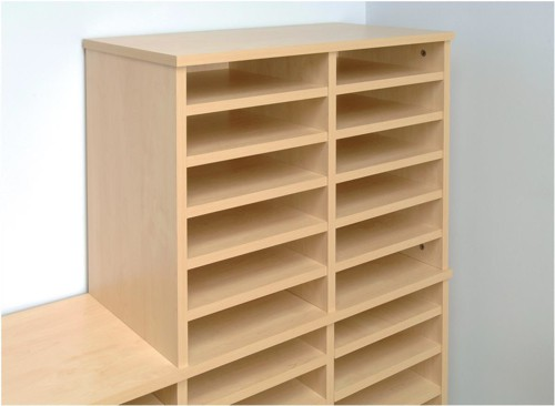 Tercel Post Room Shelves for Sorter Base Maple [Pack 5]