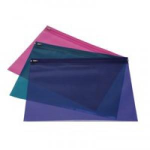 Rapesco Asstd A4 Zippi Bag/Metal Zip P25