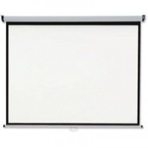 Nobo Wall Projection Screen for DLP LCD 4:3 Format Black-bordered W2400xH1813mm Ref 1902394