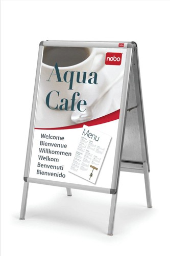 Nobo A Frame Steel-backed with Two Clip-down Frames with PVC Anti-glare Covers 1000x700mm Ref 1902205