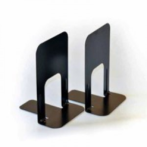 Bookends Large Metal Black [Pack 2]