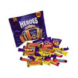 Cadbury Heroes Family Bag 20 Bars 278g