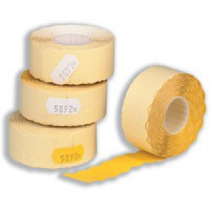 Avery Labels for Labelling Gun 2-Line Removable White 16x26mm 1200 per Roll
