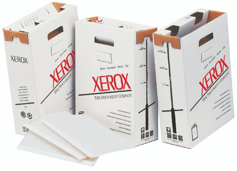 Xerox Document Binder 120 covers Royal White 9mm 429X297mm 1Gm2 FSC4 Pack 150 003R93679