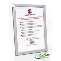 Photo Frame Secure Aluminium Non Glass Front A4