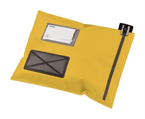 Versapak Mailing Pouch Durable PVC-coated Nylon 286x336mm Yellow Ref CVF1_YWS