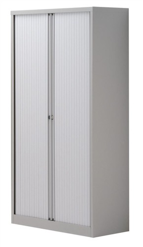 Trexus Tambour Cupboard Steel Side-opening W1000xD470xH1968mm Grey