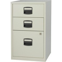 Trexus by Bisley SoHo Filing Cabinet Steel Lockable 3-Drawer A4 W413xD400xH672mm Grey