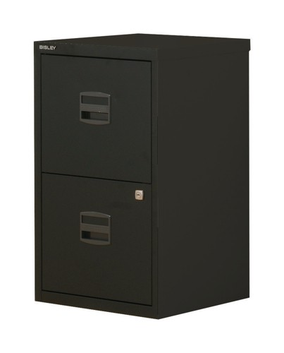 Trexus by Bisley SoHo Filing Cabinet Steel Lockable 3-Drawer A4 W413xD400xH672mm Black