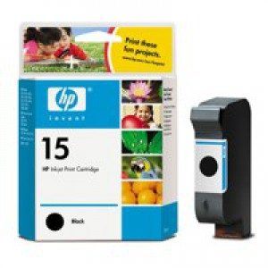 Hewlett Packard [HP] No. 15 Inkjet Cartridge Page Life 500pp 25ml Black Ref C6615DE