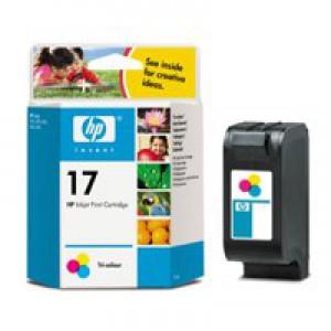 Hewlett Packard [HP] No. 17 Inkjet Cartridge Page Life 480pp 15ml Colour Ref C6625A