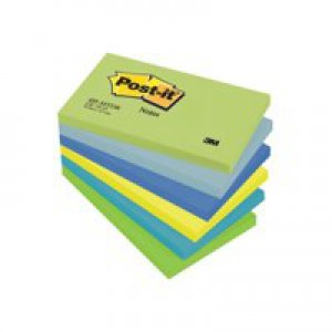 Post-it Colour Notes Pad of 100 Sheets 76x127mm Dreamy Palette Rainbow Colours Ref 655MT [Pack 6]