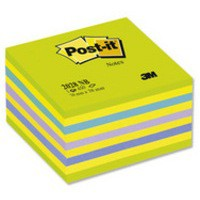Image for 3M Post-it Neon Cube 76x76mm Blue 2028NB