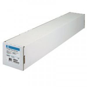 HP DesignJet Inkjet Paper 90gsm 24in Roll 610mmx45.7m Bright White Code C6035A