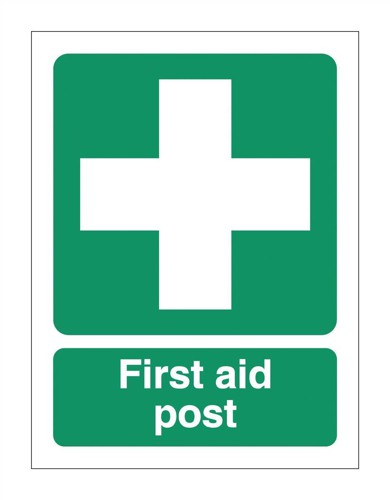 Stewart Superior First-Aid Post Self Adhesive Sign Ref SP051PVC
