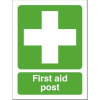 Stewart Superior First-Aid Post Self Adhesive Sign Ref SP051SAV