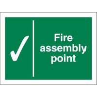 Stewart Superior Fire Assembly Point Sign 150x200mm Polypropylene Ref SPO52PVC