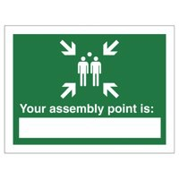 Stewart Superior Your Assembly Point Is Sign Write-on 200x150mm Polypropylene Ref SP076PP