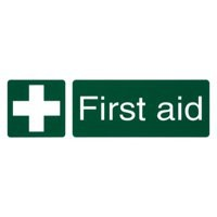 Stewart Superior First-Aid Box Self Adhesive Sign Ref SP058PVC