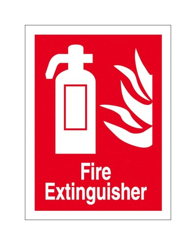 Stewart Superior Fire Extinguisher Self Adhesive Sign Ref FF071PVC