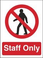 Stewart Superior Staff Only Self Adhesive Sign Ref P085SAV