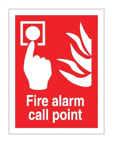 Stewart Superior Fire Alarm Call Point Self Adhesive Sign Ref FF073PVC