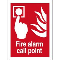 Stewart Superior Fire Alarm Call Point Self Adhesive Sign Ref FF073SAV