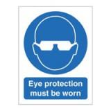 Stewart Superior Eye Protection Must Be Worn Self Adhesive Sign Code M004SAV