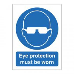 Stewart Superior Eye Protection Must Be Worn Self Adhesive Sign Ref M004SAV