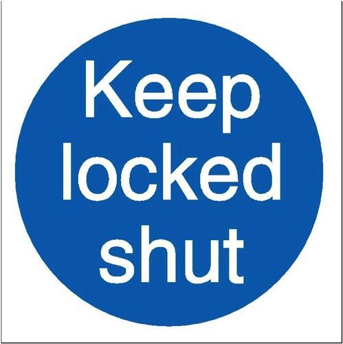 Stewart Superior Keep Locked Shut Self Adhesive Sign Ref M016SAV [Pack 5]