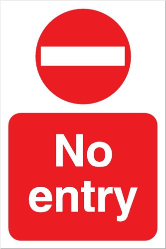 Stewart Superior No Entry Sign for Outdoor Use Foamboard Ref FB024