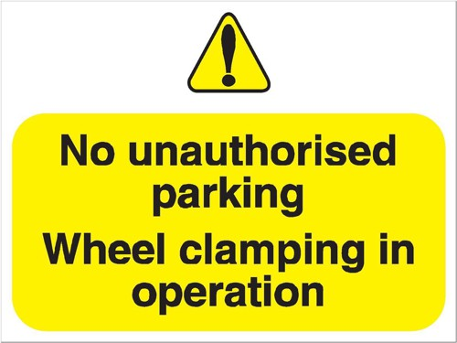 Stewart Superior Outdoor No Uauthorised Parking Clamping In Operation Sign Foamboard Ref FB047