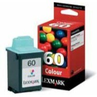 Lexmark No60 Z12/32 High Resolution Inkjet Cartridge Colour 17G0060E