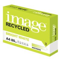 Image Recycled Bright White 100%Recycled A4 210X297mm 80Gm2 Pack 500
