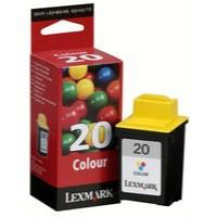 Lexmark No. 20 Inkjet Cartridge Page Life 685pp Colour Ref 15MX120