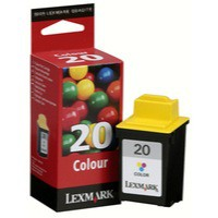 Lexmark No. 20 Inkjet Cartridge Page Life 685pp Colour Ref 15MX120