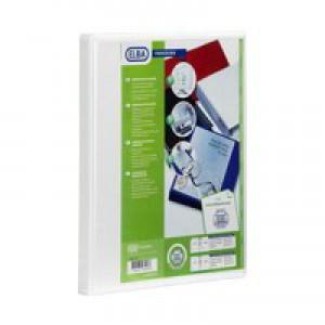 Elba Presentation Ring Binder PVC 2 D-Ring 50mm Capacity A4 White Ref 400007674 [Pack 4]