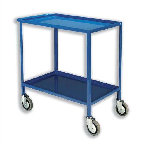 Tray Trolley 2 Tier Blue