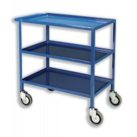 Image for Tray Trolley 3 Tier Blue