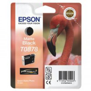 Epson T0878 Matte Black Inkjet Cartridge
