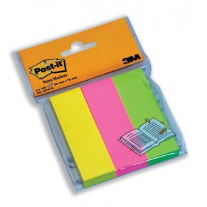 Post-it Note Markers 100 each of Neon Yellow - Pink and Lime Green Ref 6713 [Pack 3]