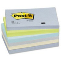 Post-it Colour Notes Pad of 100 Sheets 76x127mm Balanced Palette Rainbow Colours Ref 655ML [Pack 6]