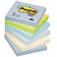 Post-it Colour Notes Pad of 100 Sheets 76x76mm Balanced Palette Rainbow Colours Ref 654ML [Pack 6]